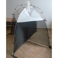 26.66 - SLAM Piège Malaise (blanc et noir) - hauteur 110 cm, largeur 110 cm, longueur 110 cm