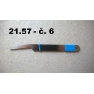 21.57 - Tweezers extra hard - no. 6 - length 12 cm