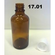 17.01 - Prázdná skleněná kapací lahvička na chemikálie 50 ml
