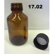 17.02 - Prázdná skleněná lahvička na chemikálie 100 ml