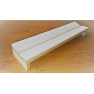 07.76 - Preparační podložka šikmá - šířka 14 cm, délka 35 cm, škvíra 14 mm. Tloušťka plastazote 5 mm.