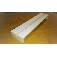 07.751 - Preparační podložka rovná - šířka 12 cm, délka 35 cm, škvíra 12 mm