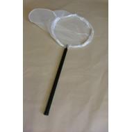 2dílná teleskopická hůl o délce 105 cm + síťka na lov vodního hmyzu kruhová Ø 35 cm (hůl, rám, síť)