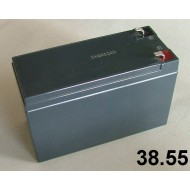 38.55 - Battery 12V/8Ah ( 14,4-15V,2,40A), weight 2,51 kg, size 65x151x94 mm