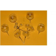 Glass fumigant holders ( close ) - diameter 25 mm
