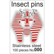 02.30 - Entomologické špendlíky nerezové č.000, délka 38 mm