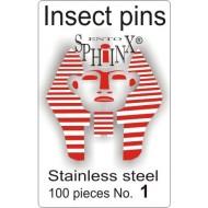 02.01 - Entomologické špendlíky nerezové č.1, délka 38 mm