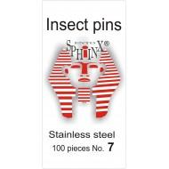 Entomologické špendlíky nerezové č.7, délka 52 mm