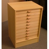 06.80 - Cabinet 10 ( botton part ) for 10 drawers 40x50 ( without drawers )