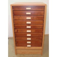 06.90 - Cabinet 10 ( botton part ) for 10 drawers 30x40 ( without drawers )