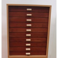 06.91 - Cabinet 10, top part (30x40), natural alder