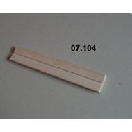 07.104 - Napínadlo MICRO pro minucie, pevné, materiál BALSA - šířka 33 mm, délka 200 mm, škvíra 2 mm