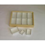 06.37 - Entomologická krabice celodřevěná, borovice  30x40x6 cm - bez výplně dna UNIT SYSTÉM - KLASIK