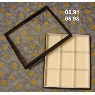 05.91 - Krabice polepené plátnem bez výplně dna - SKLENĚNÉ VÍKO pro UNIT SYSTÉM - PLAST