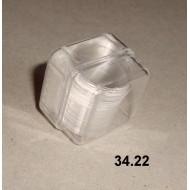 34.22 - Round cover glass, diameter 15 mm, 100 slips per box