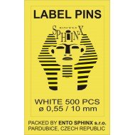 Label pins white - packing of 500 pieces