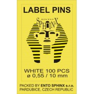 Label pins white - packing of 100 pieces