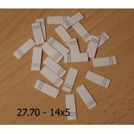 27.70 - Nalepovací štítky - linkované 14x5