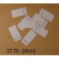 27.70 - Nalepovací štítky - linkované 20x10