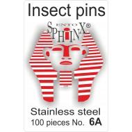 02.061 - Entomologické špendlíky nerezové č.6A, délka 45 mm