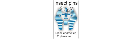 Black insect pins
